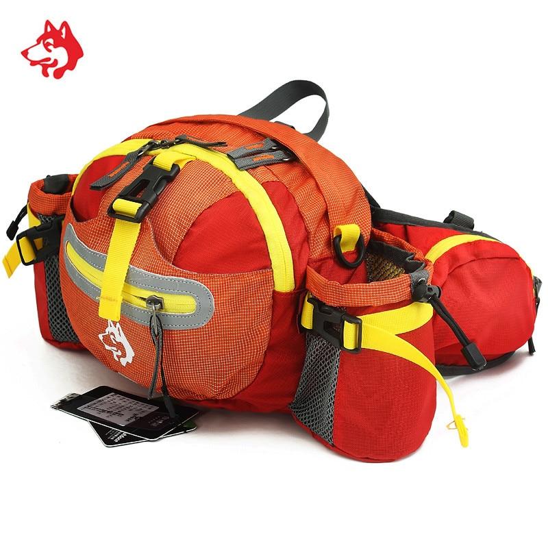Three in one bag water resistant mens sport waist bag Orange/Green/Dark Green  Waterproof nylon running belt waist pouch bag
