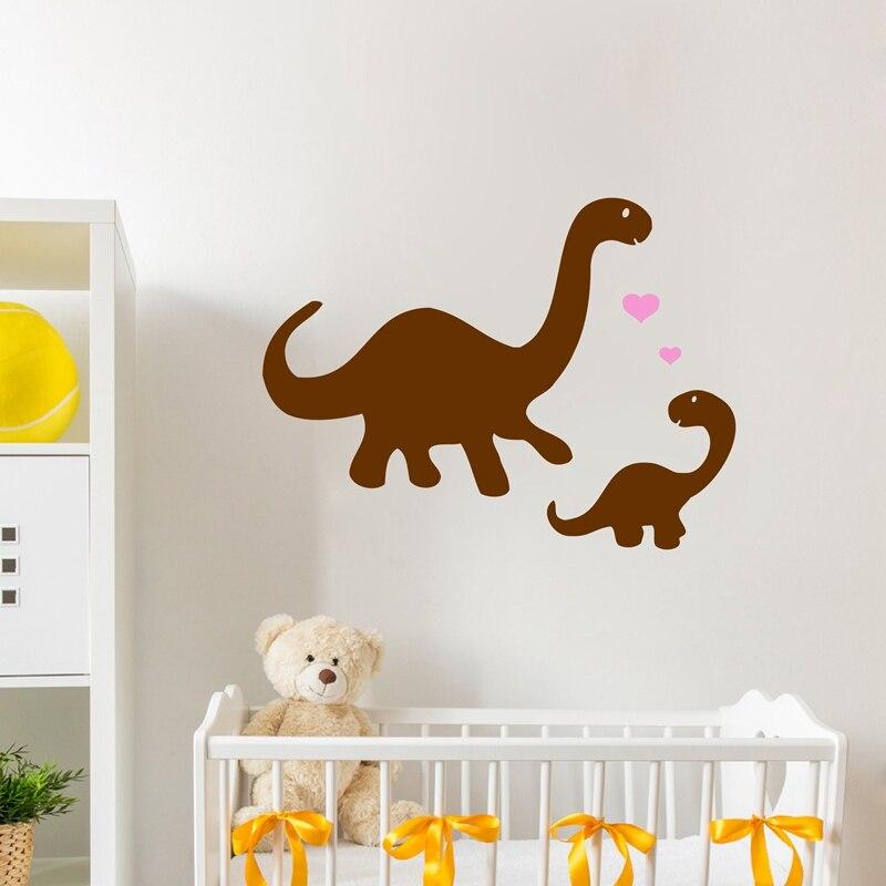 Pegatinas de vinilo para pared de dinosaurios y mamás, pegatinas de arte para pared de dinosaurios para guardería de bebés, p2039