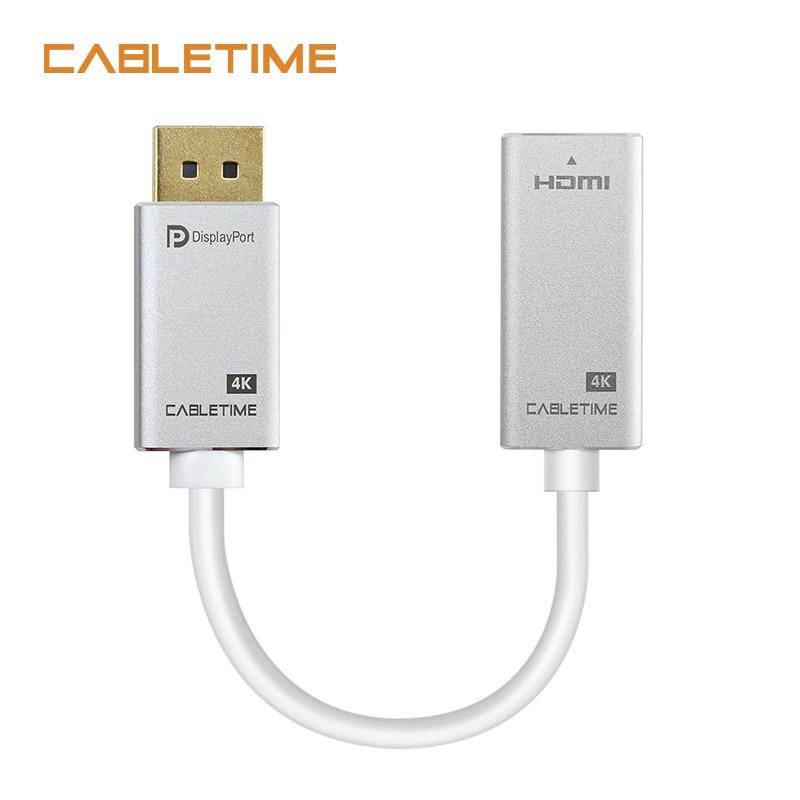 Cabletime DP a HDMI Adaptador convertidor M/F 4 K a 30 HZ Display Port a HDMI adaptador para Macbook HDTV Projector Monitor CÁMARA DE N166