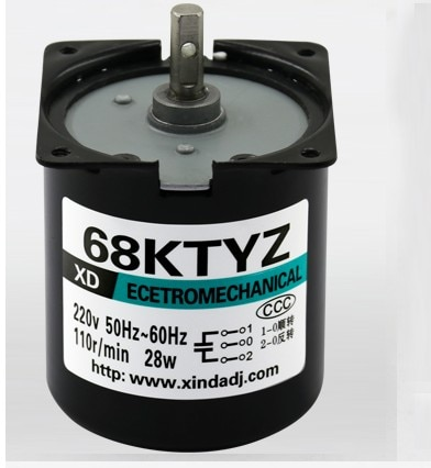 68KTYZ motor AC 220V 1 rpm-110 rpm motor micro velocidad lenta máquina 28W motor síncrono de imán permanente