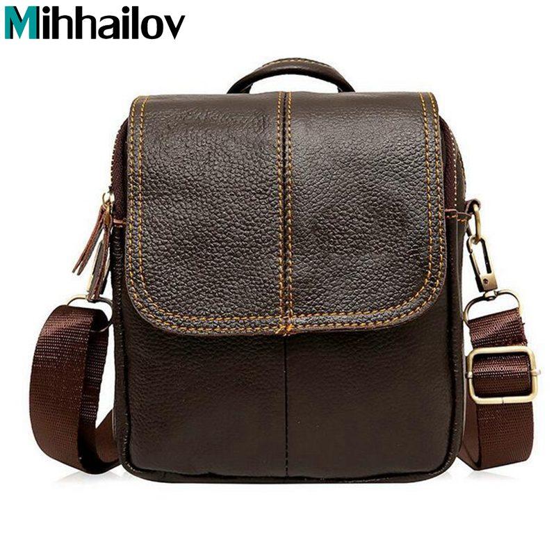 New 2020 New Style Genuine Leather Men Messenger Bags Shoulder Bags BARCA Hannibal Handbags Men Travel Bags KY-185