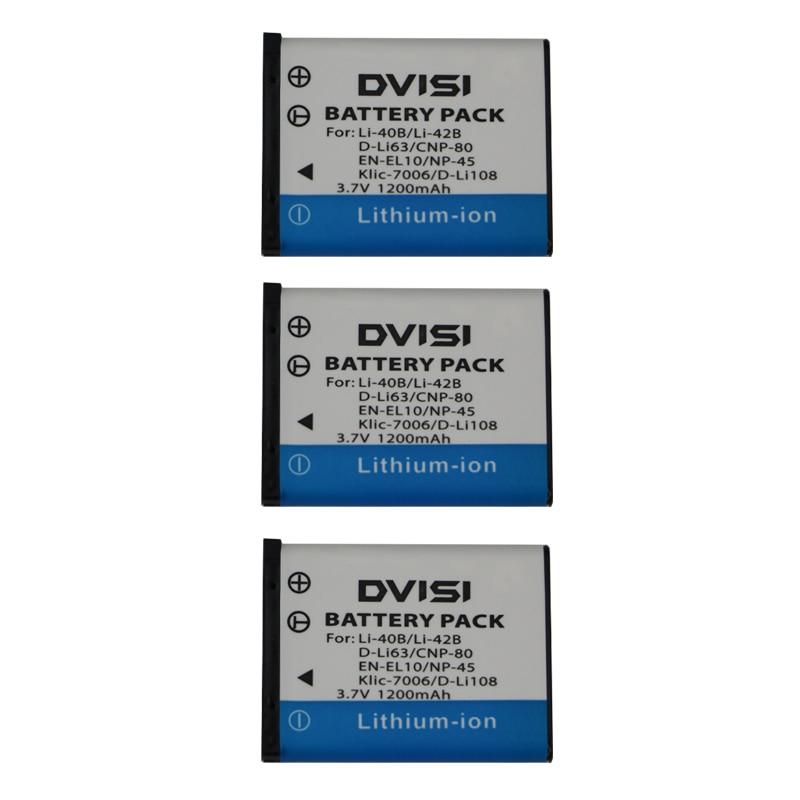3 Pçs/lote Li-42B Li42B FE230 Li-40B Bateria de Alta Qualidade para OLYMPUS U700 U710 FE290 FE340 FE360 U1040 X915 VR320 VR330 FE5000
