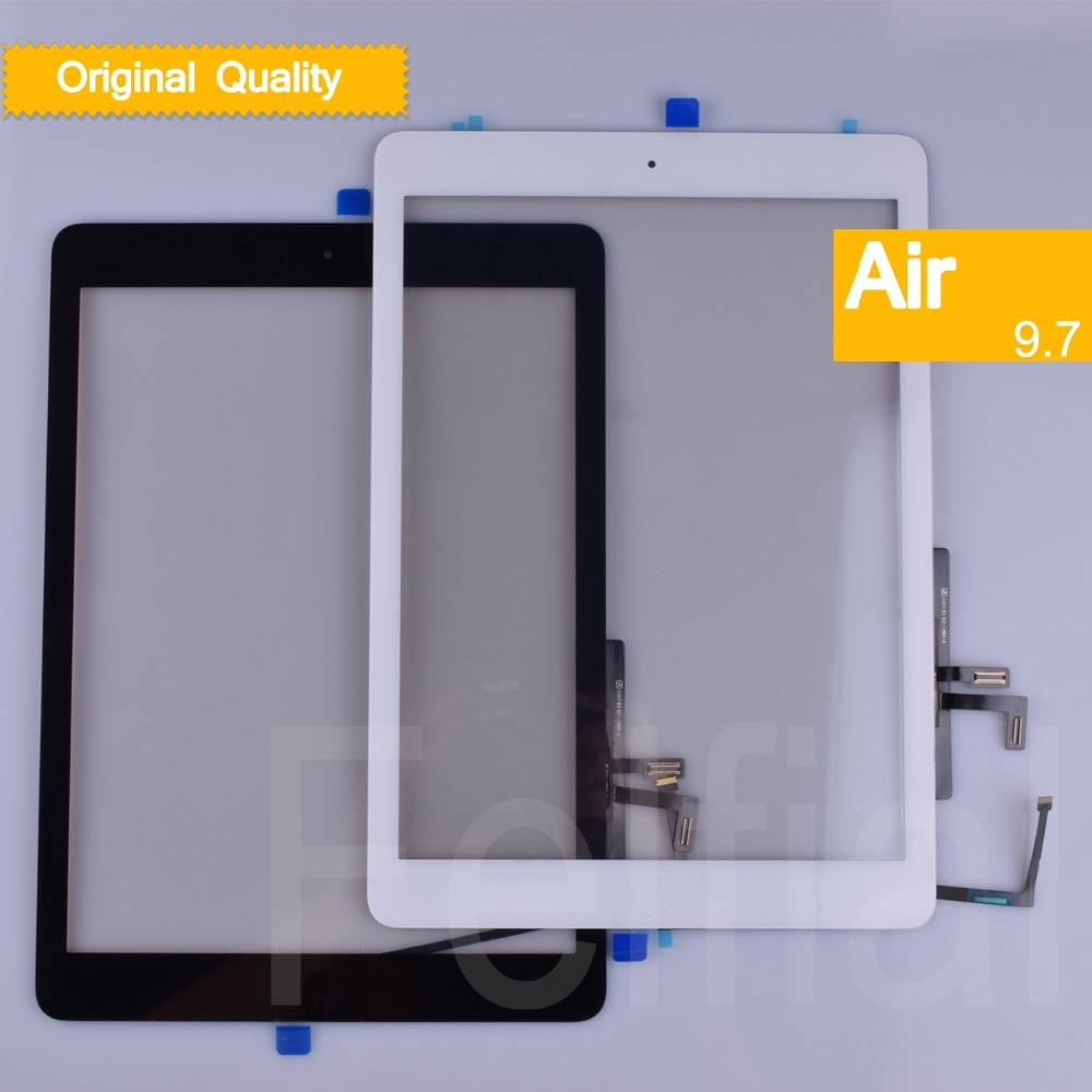 10Pcs/lot Original For Apple iPad Air Touch Screen Digitizer Sensor For ipad 5 Touchscreen Front Glass Panel A1474 A1475 A1476