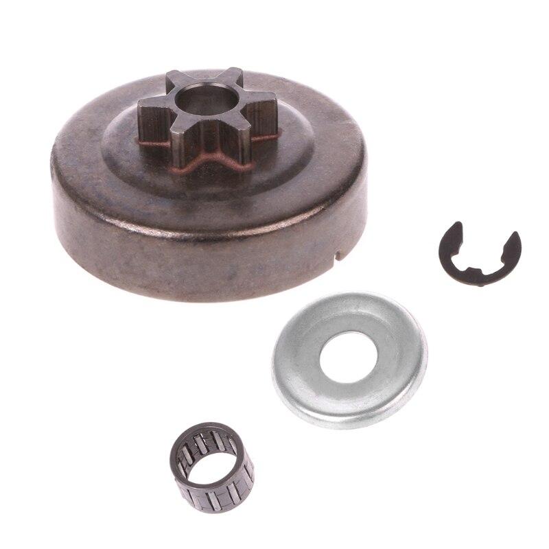 Piñón de tambor de embrague de motosierra 3/8, arandela 6T, Kit de Clip electrónico para piezas STIHL MS170 180
