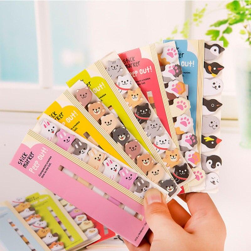 Маленькие животные блокнот для заметок милые стационарные корейские креативные Липкие заметки Kawaii наклейки для заметок планировщик наклейки Канцтовары