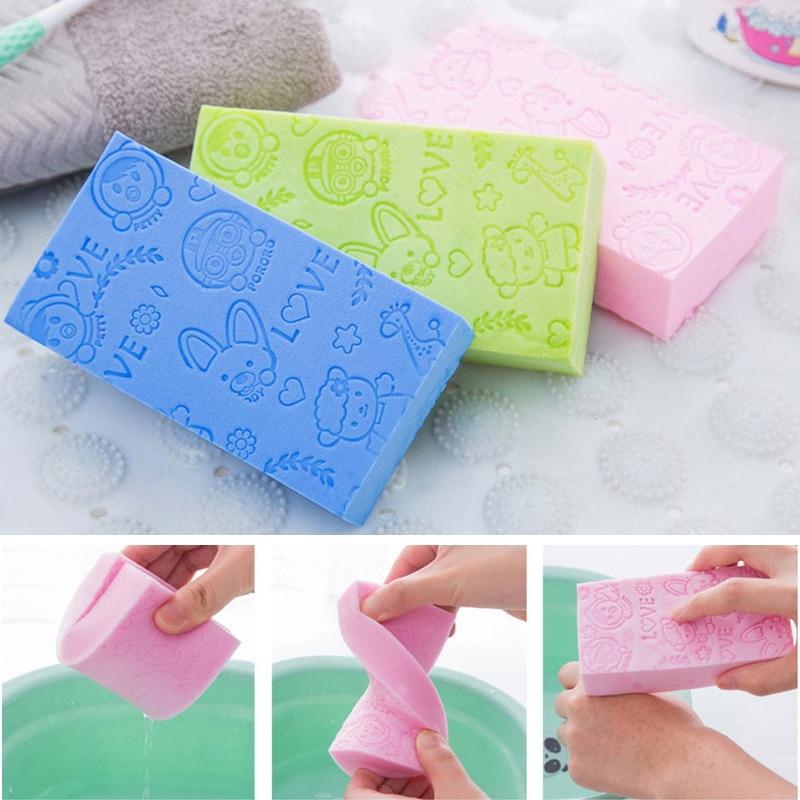 Accessoires de bain doux pour enfants   Éponge douce pour douche-cadeau bébé, brosse de nettoyage du corps exfoliante, accessoires de bain