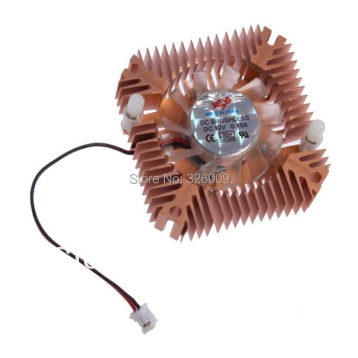 5 uds., enfriador VGA, orificio de 55mm, ventilador de 2 pines, enfriador disipador térmico de aluminio para ordenador CPU tarjeta de vídeo VGA