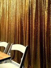 Tissu à paillettes scintillantes Champagne or   Tissu, 8 ft * 8FT, toile de fond, stand de Photo de mariage, arrière-plan de photographie pour décor de fête