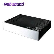 Caja de gran tamaño Nobsound W430 * H120 * D310mm carcasa de amplificador de potencia de chasis de aluminio
