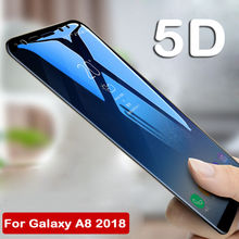 Verre de protection décran complet pour Samsung Galaxy A8 A6 Plus 2018 J2 Pro J6 J7 Prime2 Plus Duo C8 5D lunettes