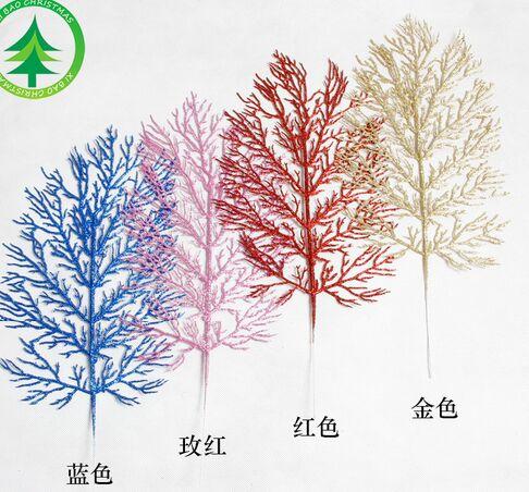 10pcs Christmas Artificial leaves Simulation leaves Christmas decorations 40x19cm