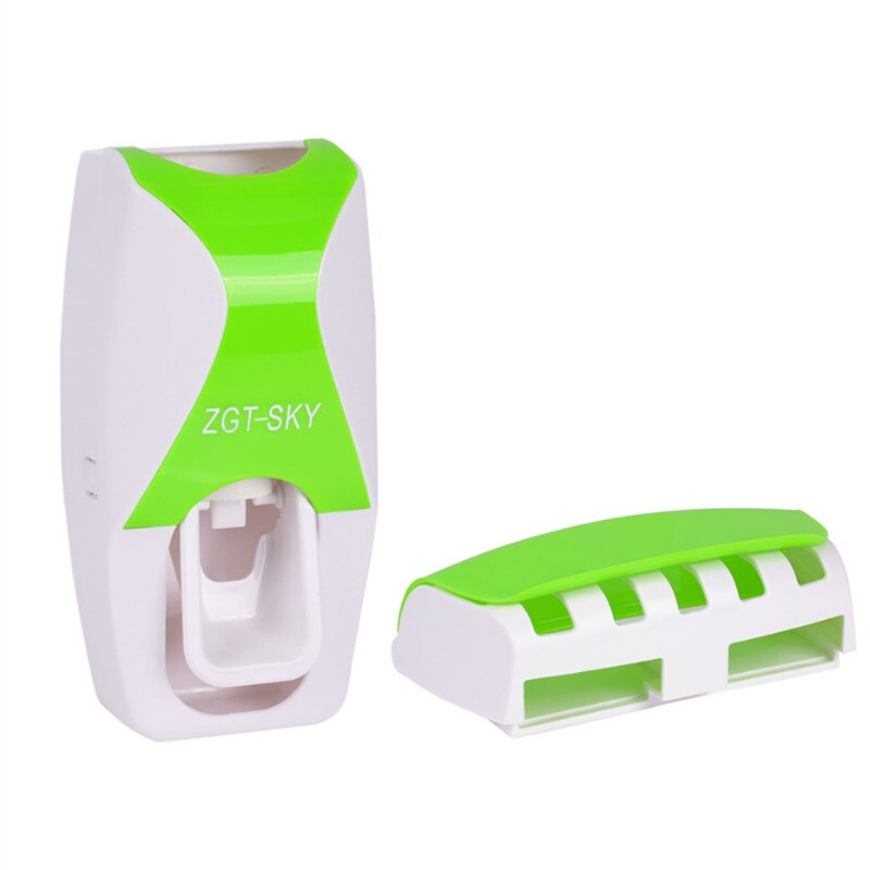 1 Set Automatic Lazy Toothpaste Dispenser with 5 Toothbrush Holder Bathroom Shelves Plastic Squeezer Bathing Accessories enlarge