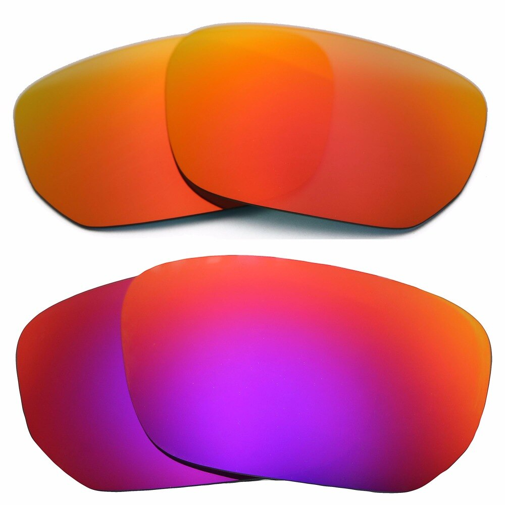 Orange Red Mirrored & Midnight Sun Mirrored Polarized Replacement Lenses for Style Switch Frame 100%