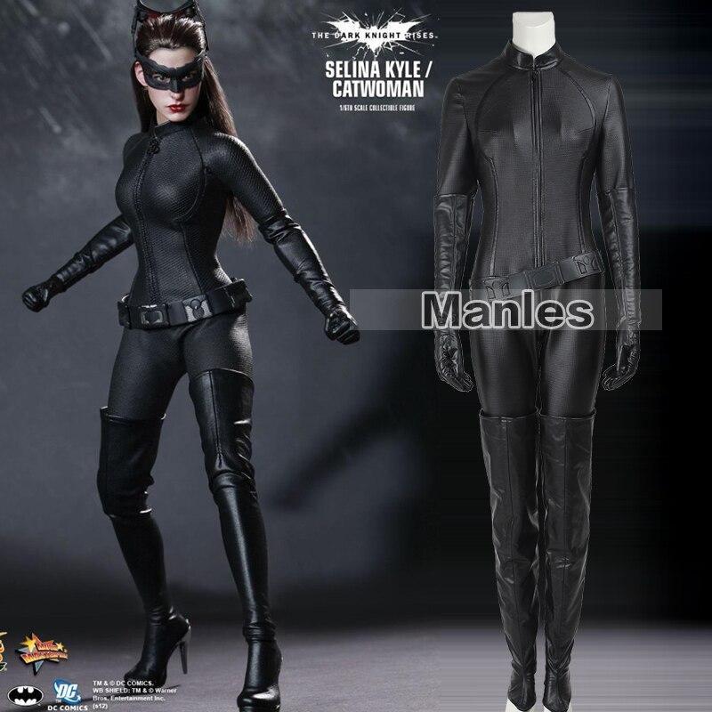Женщина-кошка Косплэй костюм The Dark Knight Rises боди сексуальные Косплэй Бэтмен Селина Кайл Хэллоуин Праздничный костюм для Для женщин для взрослых