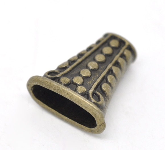 Бусины из цинка DoreenBeads-вставки из сплава трапеции, античные бронзовые Точечные цвета, около 19 мм x 17 мм, отверстие около 14 мм x 4,5 мм 5,5 мм x 3,7 мм,...