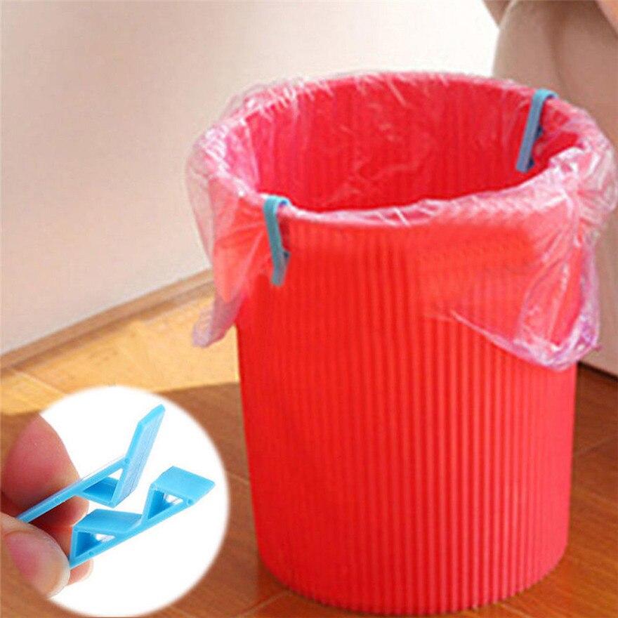 Bolsa cilps práctica residuos Abrazadera para cesta de basura Bolsa de Basura Anti deslizante fijación Clip #30