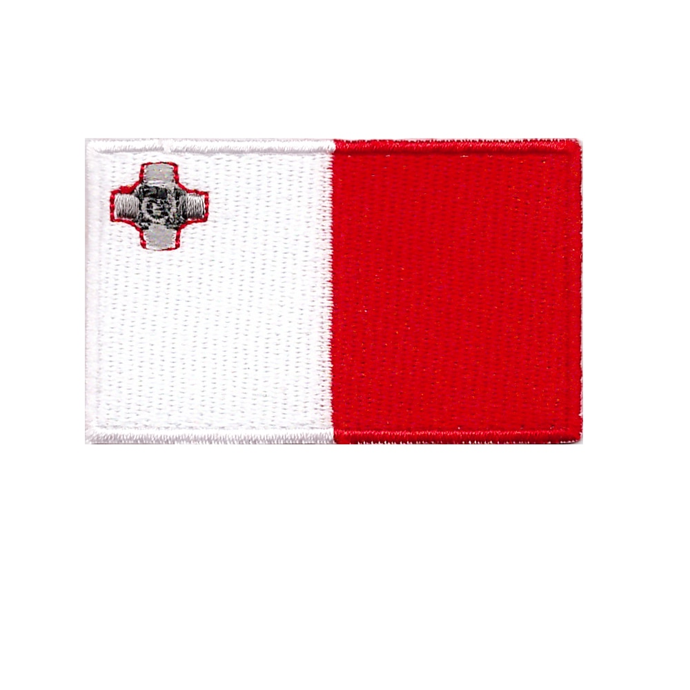 wholesale Embroidery Malta flag emblem patch good quality cheap welcome customization and 200 logo 3D Suitable for all kinds of