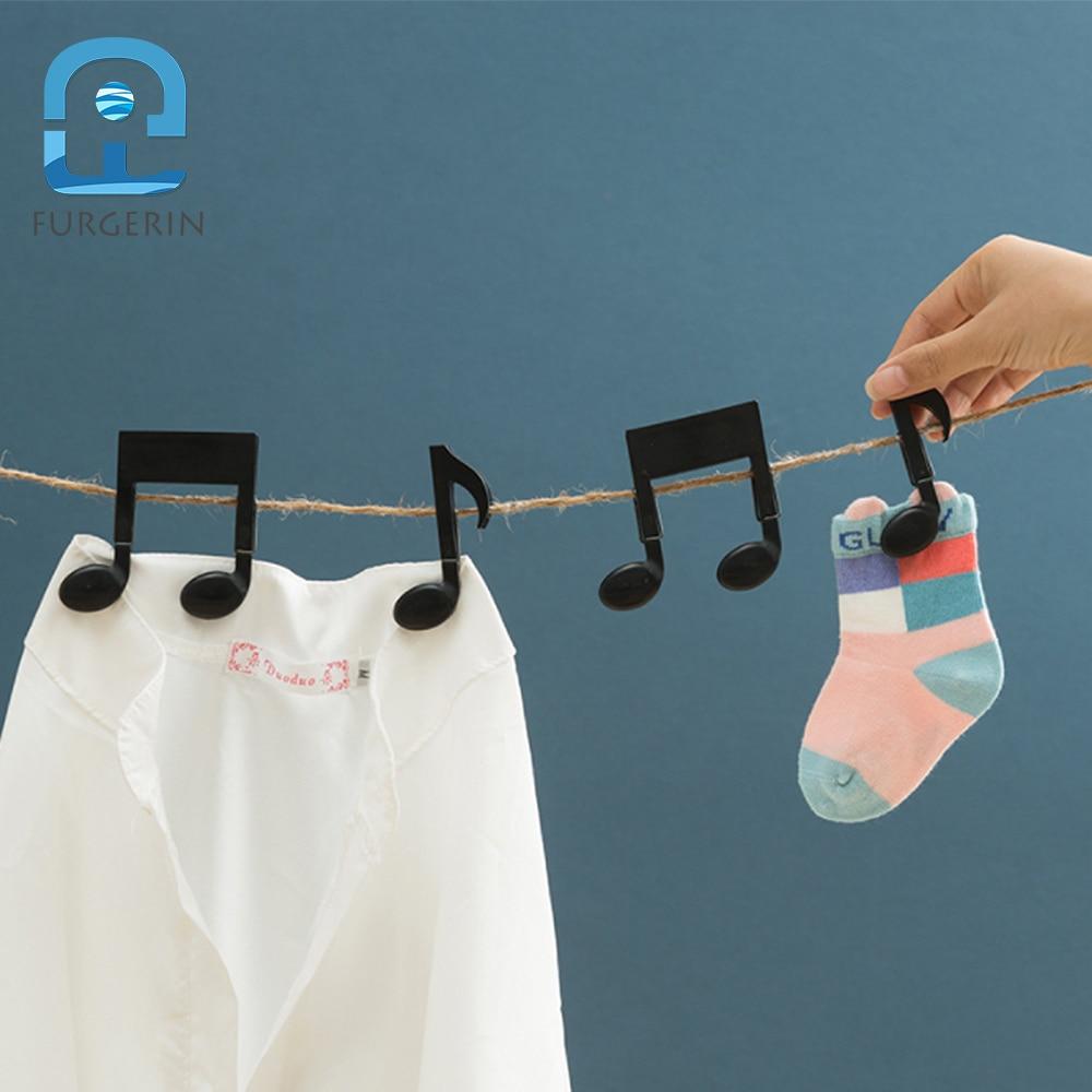 FURGERIN 2 pcs Lençol Clipes Nota Musical Forma Mini Clothespins clips pano de Toalha de Praia Roupas Clipe Peg meias clipe prendedor de roupa
