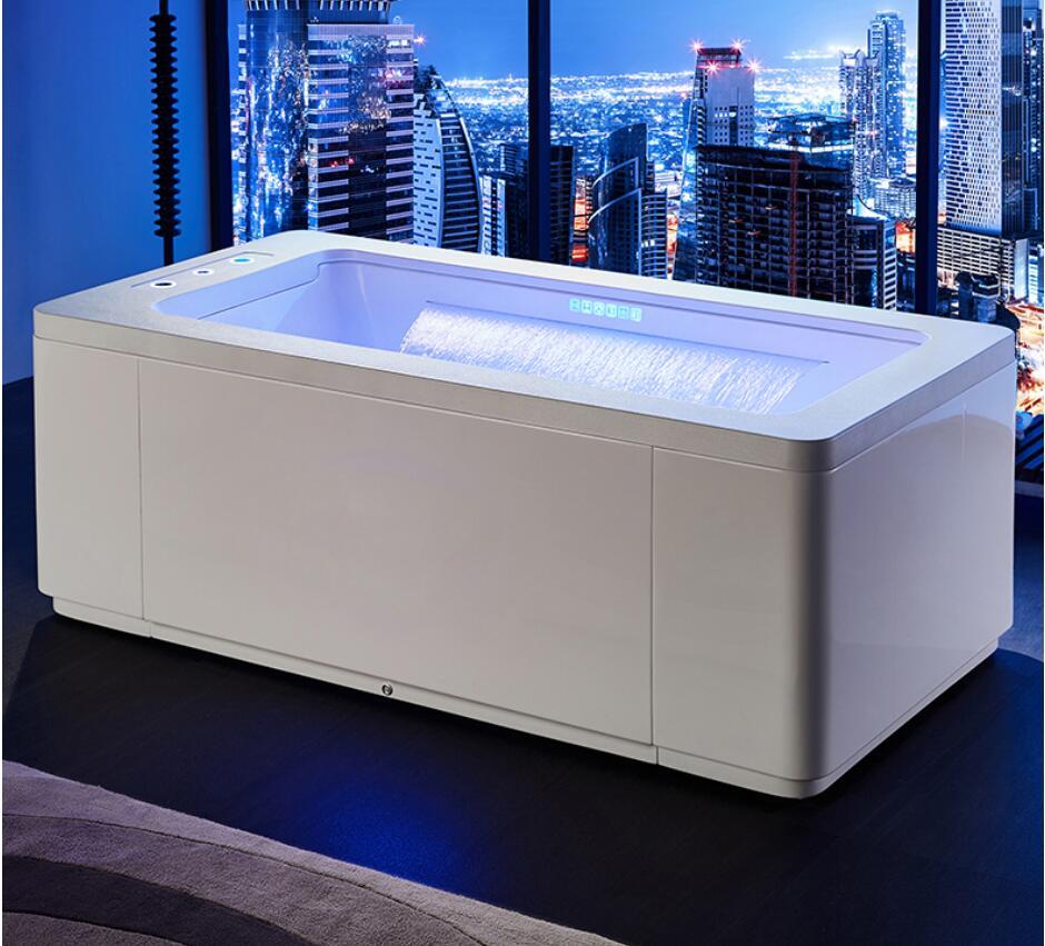 Bañera de hidromasaje de 1700mm, lámpara de color para surf, bañera de burbujas, bañera de cascada NS1101W