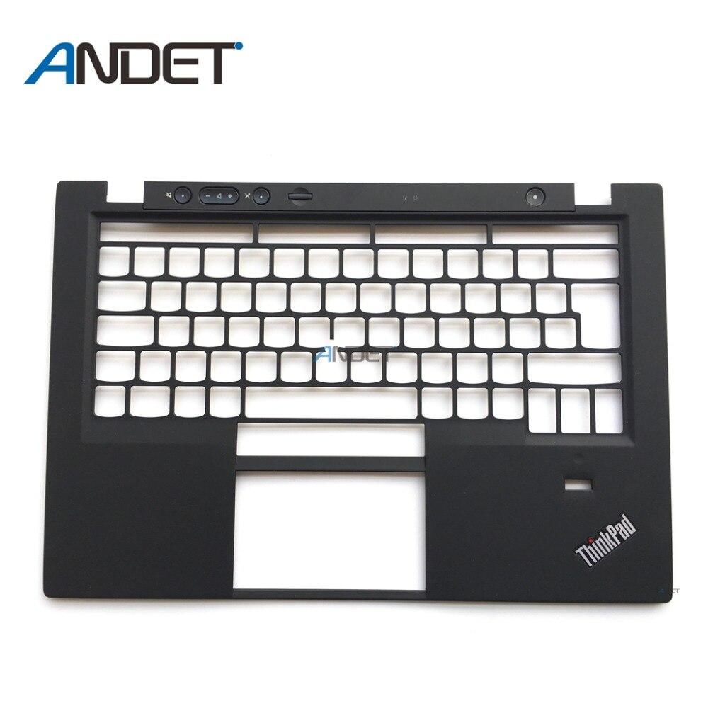Reacondicionado para Lenovo ThinkPad X1 Carbon Gen 1st 2013 palmrester cubierta teclado bisel superior UK Big Enter Frame