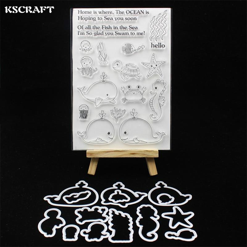 KSCRAFT Sea Animals Stamp Metal Cutting Dies Stencils for DIY Scrapbooking/photo album Decorative Embossing DIY Paper Cards 121