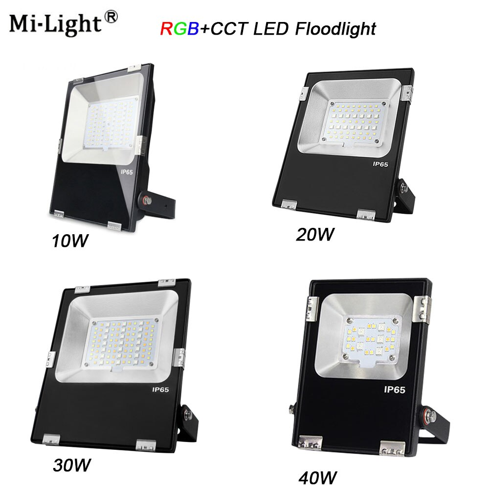 Luz LED de inundación Miboxer FUTT02/ FUTT03/FUTT04 /FUTT05/FUTT06 10W/20W/30W/50W RGB + CCT AC100-240V DC24V IP65, luz de jardín exterior