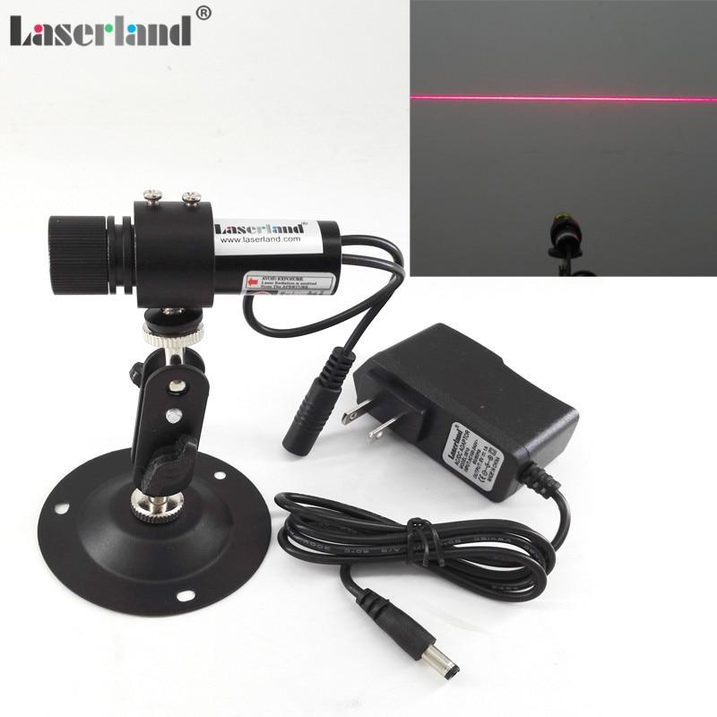 22*70mm focalisable 650nm 20mW 60mW 100mW ligne rouge générateur Diode Laser Module localisateur + ue/US adaptateur + montage vêtements coupe de bois