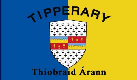 Bandera del condado de Tipperary, bandera del Estado irlandés, bandera 3x5FT 100D 150X90CM, arandelas de poliéster de latón personalizadas, 66, envío gratis