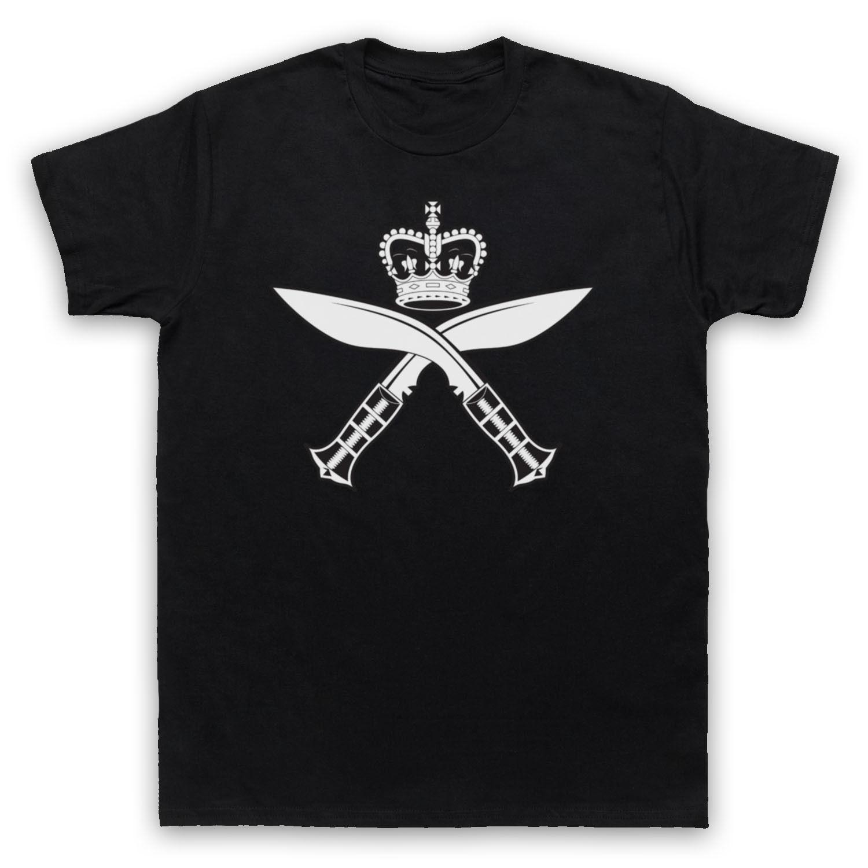 Gurkha Insignia Kukri regimiento inspirado ejército Logo adultos moda hombres camisetas impresas