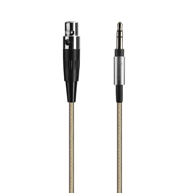 4ft/6ft chapados en plata para Cable de Audio para AKG K182 K175 K245 K275 K371 K181 DJ UE K240 estudio K702 K267 TIESTO K712 Q701 auriculares