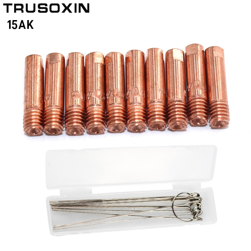 20pcs15AK Binzel soplete/gun consumibles = MIG Alambre de soldadura eléctrica consejos para la máquina de soldadura MIG