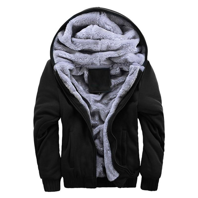Laamei 2020 Winter Neue Trainingsanzug Männer Mode Verdicken Samt Casual Kapuze Warme Dicke Hoodie Feste Moleton Masculino Sweatshirt