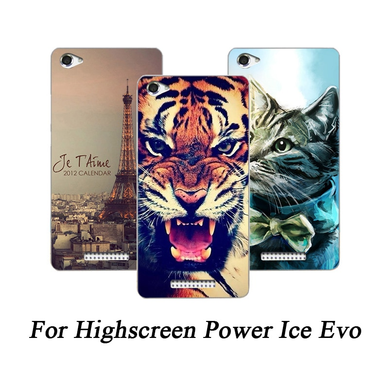Мягкий ТПУ чехол для телефона Highscreen Power Ice Evo, силиконовые чехлы с изображением волка розы, прозрачный чехол для Highscreen Power Ice Evo