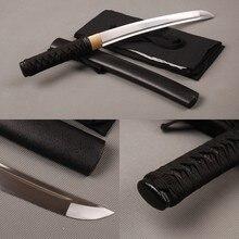 SHI JIAN épée de Cosplay samouraï   Tranchante, Vintage japonaise épée courte 1060 en acier au carbone, plein Tang Tanto épée Bo-hi