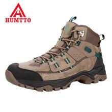 Zapatos de senderismo al aire libre profesional marca Hutto, zapatos de senderismo de cuero genuino, zapatillas de montaña impermeables, zapatos de Camping para hombres de gran tamaño