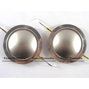 2PCS Diaphragm for Driver Titanium Dome Voice Coil  1.75inch Round Wire 8 Ohm Repair Kit