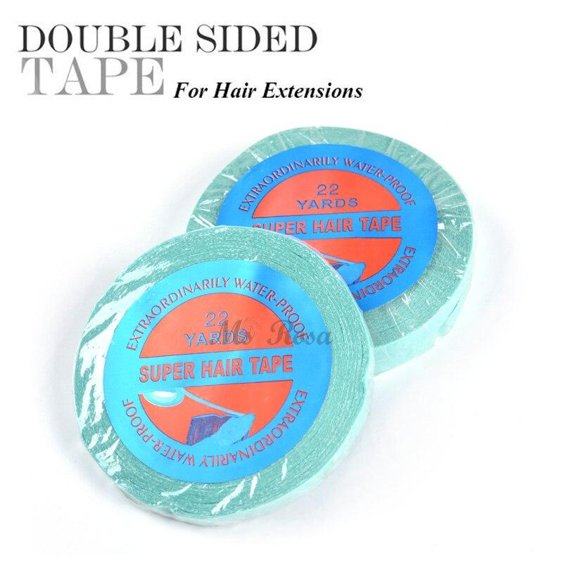Pegamento de pelo para peluca de encaje cinta adhesiva supercinta para el cabello 1 CM X 22 yardas cinta de Peluca de encaje y pegamento cinta adhesiva extensión de cabello