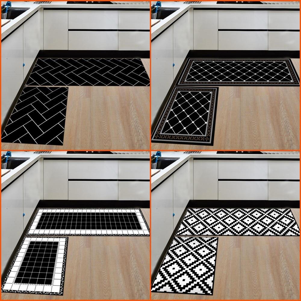 Alfombra de cocina geométrica antideslizante impermeable alfombra de baño entrada de la casa alfombra de puerta alfombra Floormat pasillo decoración del hogar artesanías