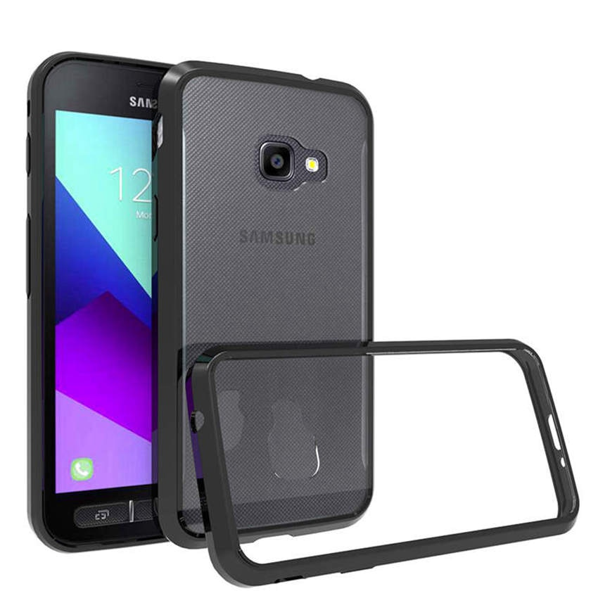 Weiche Silicon TPU/PC Fall Für Samsung Galaxy Xcover 4 Fundas Capa Stoßfest Kristall Klar Shell Harte Rückseitige Abdeckung für X Abdeckung 4