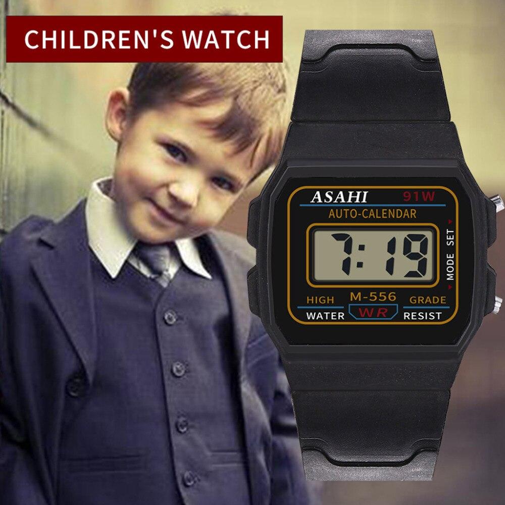 Luxus Kinder Uhr Analog Digital Sport LED Wasserdichte Armbanduhr New122