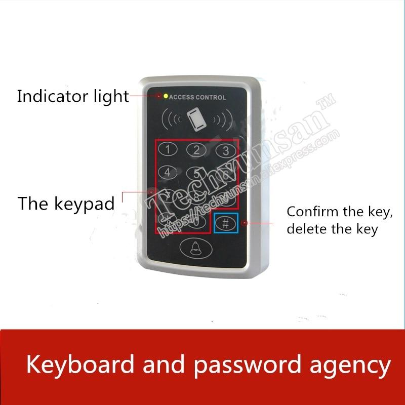 Agencia de contraseña y teclado del sistema de guardia de entrada de la Oficina de Apoyo de escape de la habitación secreta