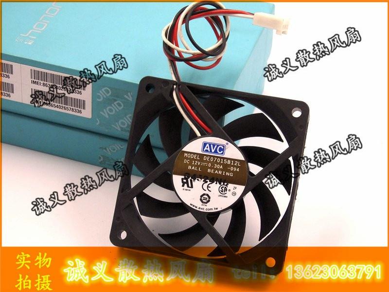 Envío Gratis AVC DE07015B12L 7 cm 70*70*15mm 70mm caja de la computadora de refrigeración de la cpu fans 12 V 12 V 0 3A 7 CM 7015 más frío