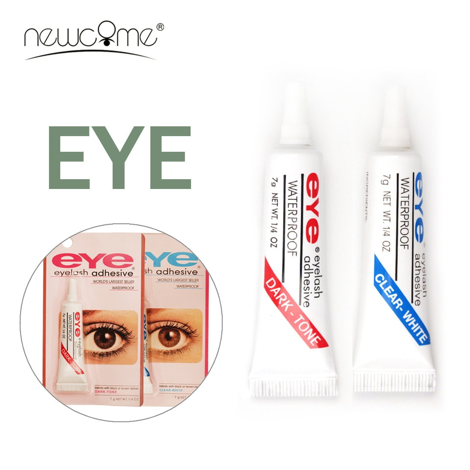 NEWCOME 1PC práctica pestañas pegamento 7g fácil de quitar pestañas postizas pegamento impermeable ojo maquillaje belleza claro /pegamento negro