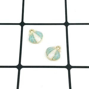 50pcs Charm enamel colored shell pendants 12*13mm Handmade children day Jewelry Making earrings bracelet necklace keychain DIY