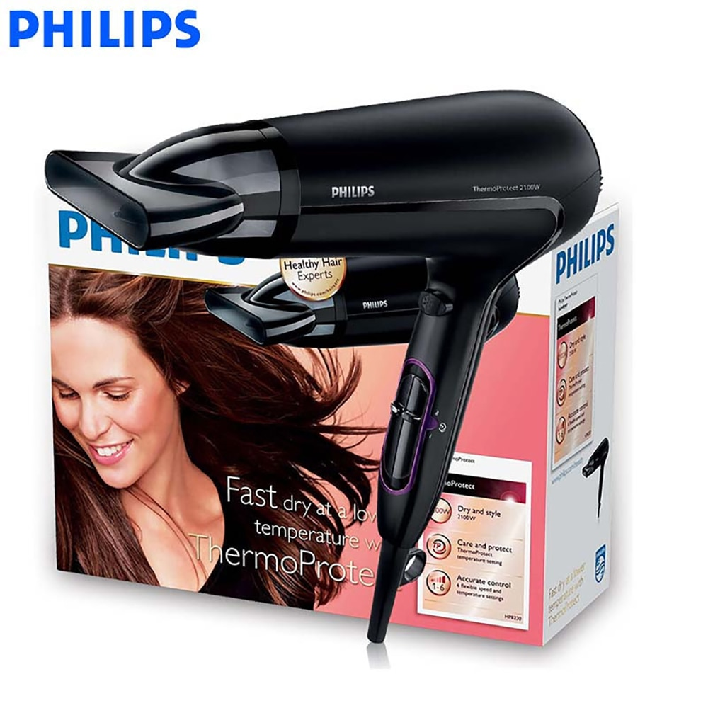 rotary microwave oven fully automatic 6 speed adjustable unified temperature control 20l low power consumption lightweight new Philips SalonShine Care Hair Dryer HP8230 Constant Temperature High-power Quick-drying Hot and Cold wind 6-speed Adjustable