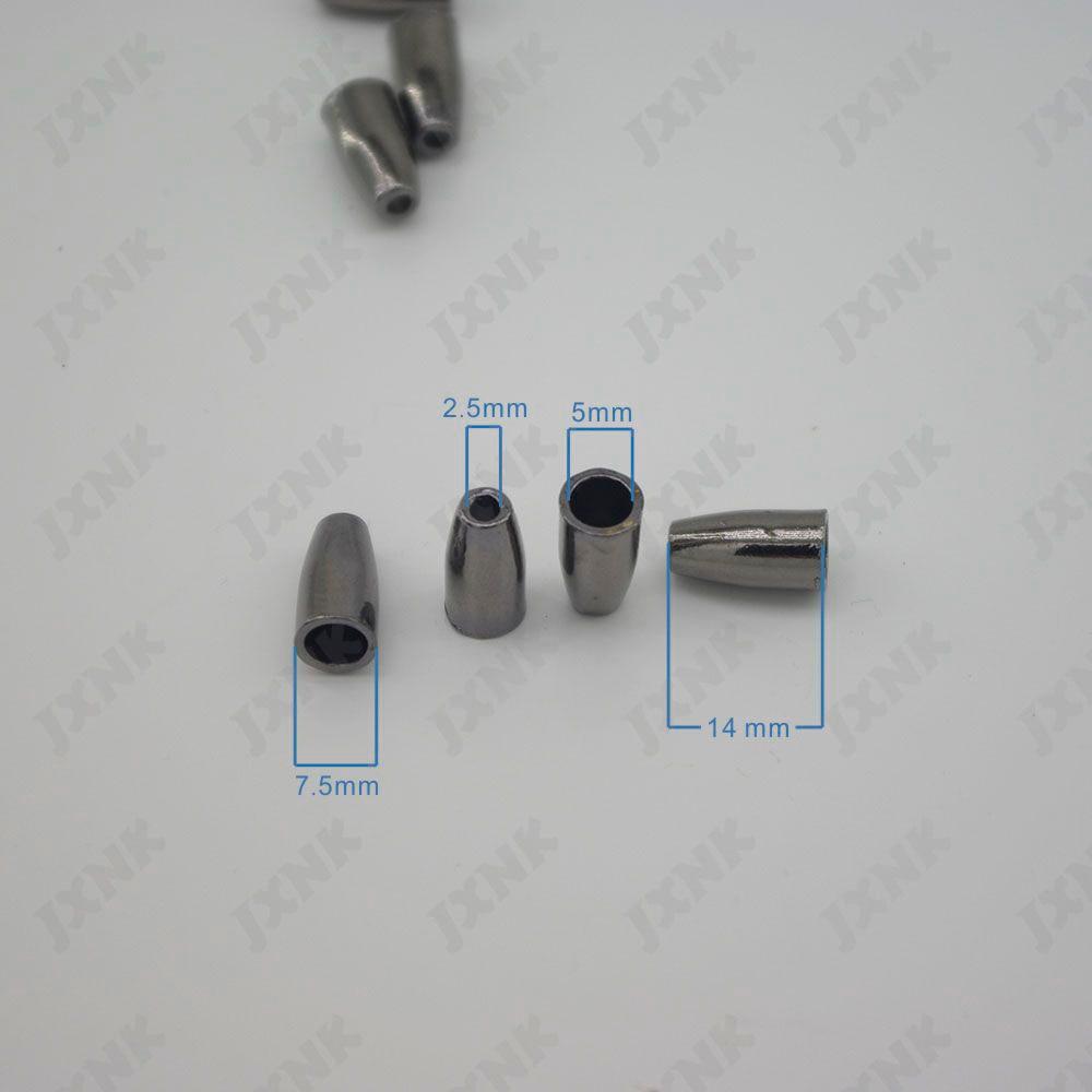 20 unids/lote 7,5mm Tapón cónico hueco sin tapa extremos de cable bloqueo chapado Clip de palanca para pulsera de Paracord negro color níquel