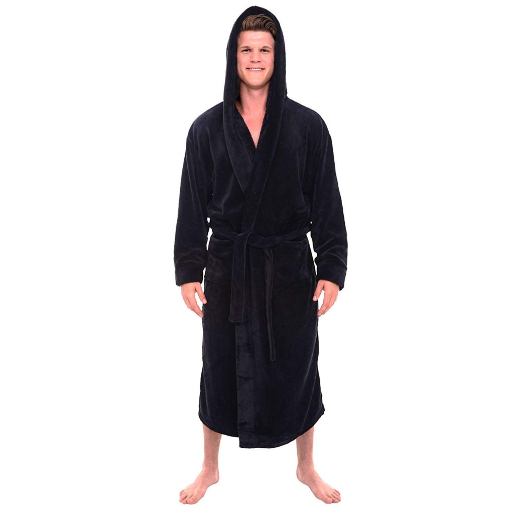 Chal de felpa alargado de invierno para hombre, albornoz, ropa para el hogar, bata de manga larga, abrigo, albornoz para hombre, triangulación de envíos