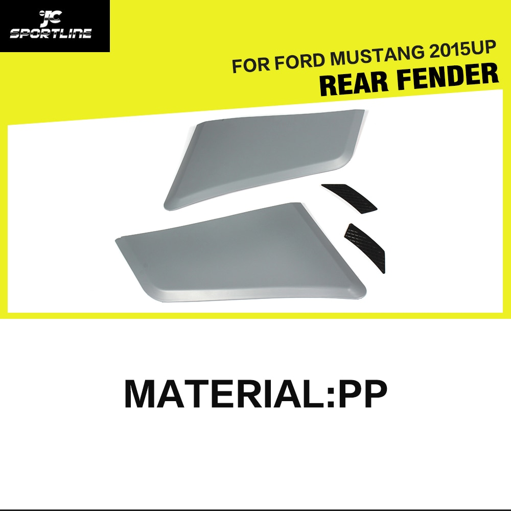 Auto Stil PP Grau Primer Auto Hinten Fender Air Vent Flares für Ford Mustang 2015UP