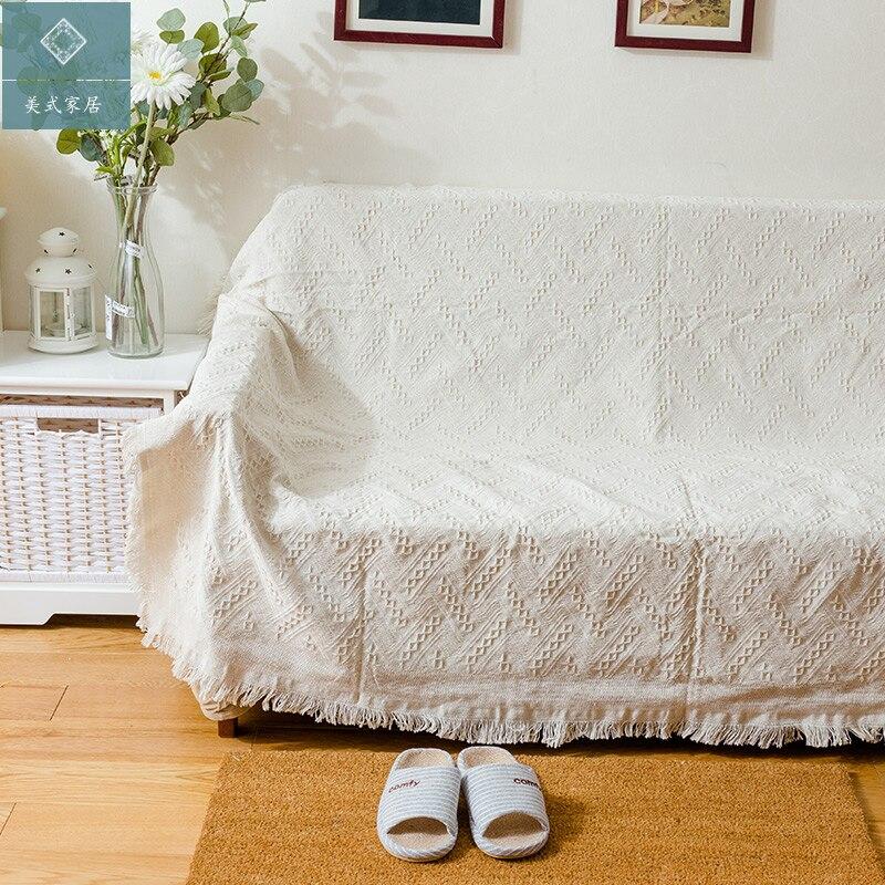 بطانية زخرفية للأريكة أو السرير أو السفر ، مصنوعة من القطن ، جديدة ، شحن مجاني