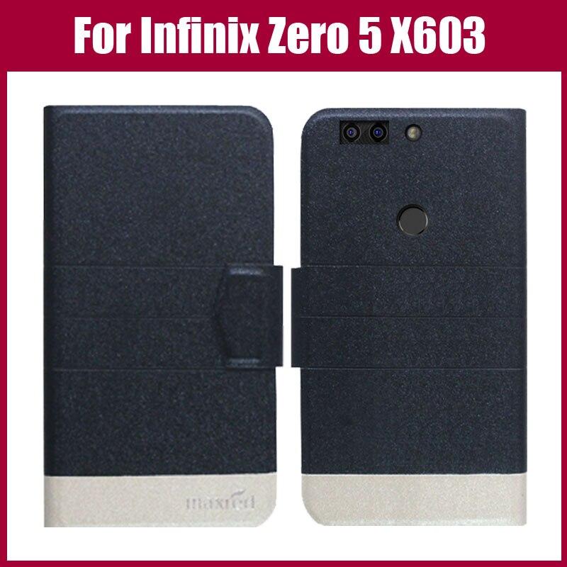 ¡Venta caliente! Infinix Zero 5X603 funda nueva llegada 5 colores moda Flip Ultra-thin funda protectora de cuero bolsa de teléfono